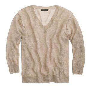 J. Crew women's marled linen blend sweater